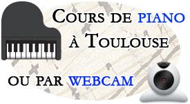 Cours de piano à Toulouse ou par Webcam